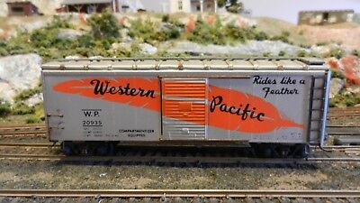 Athearn HO Vintage 40' Lithographed Steel Side Boxcar,  Western Pacific, Exc.