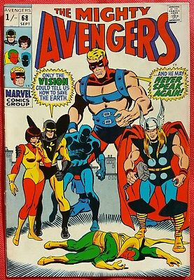 AVENGERS 68 Marvel Silver Age 1969 ULTRON Appearance