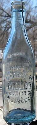 c1908 PROPERTY OF MILLER BREWING Co MILWAUKEE WISCONSIN WIS WI Blown Beer Bottle