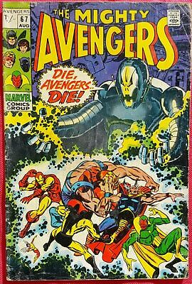 AVENGERS 67 Marvel Silver Age 1969 Ultron-6