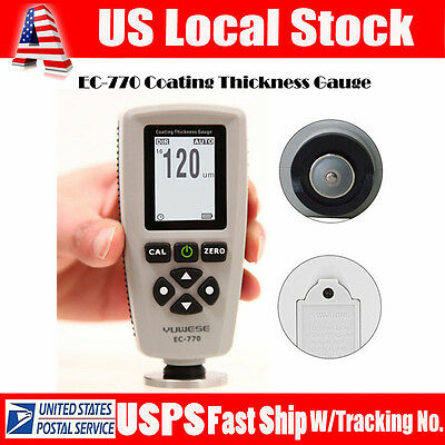 EC-770 Professional LCD Digital Coating Film Paint Thickness Gauge Meter Tester