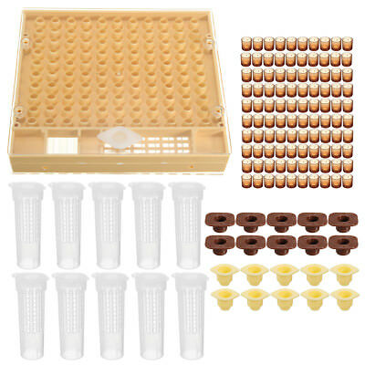 131pcs Bee Queen Rearing System Tool Beekeeping Case Set Cupkit Box Cell Cups Co