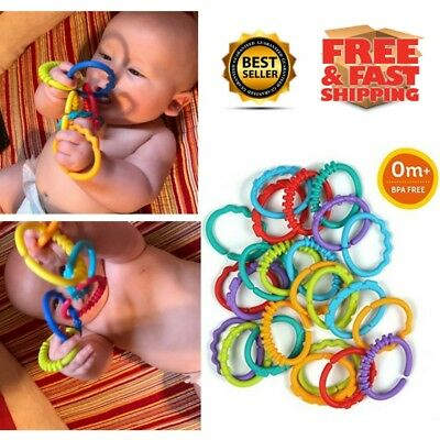 Bright Starts Lots of Links Accessory Colorful Infant Toddler Babies Baby Toy