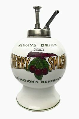 Fowler's Cherry Smash Ceramic Syrup Dispenser