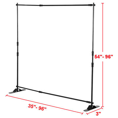 Banner Stand Adjustable Step and Repeat Stand Trade Show Booth 8' X 8'