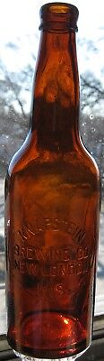 c1904 KNAPSTEIN BREWING Co NEW LONDON WISCONSIN WIS WI Blob Top Beer MINT !