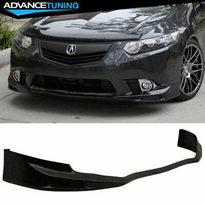 FITS ACURA TSX Front Bumper Lip Splitter Guard Unpainted Black - Acura tsx lip