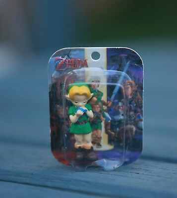 Zelda Ocarina of Time Link (Child) Figure N64 Nintendo Yujin Tomy Mini Blister