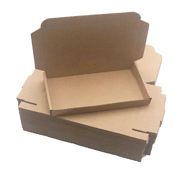 200 - 7 1/2 x 4 1/3 x 1 Brown Corrugated Shipping Mailer Packing Box Boxes