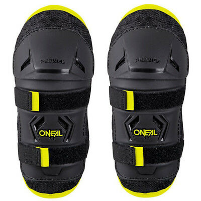 NEW Oneal Mx Kids Youth Motocross Black Hi-Viz PEEWEE Toddler Knee Guards Set