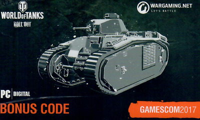 World of Tanks Gamescom 2017 Bonus Code PZ.KPFW. IV