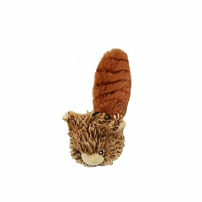 Multipet Bouncy Burrow Buddies Babies Squirrel Small Dog Toy, 8""