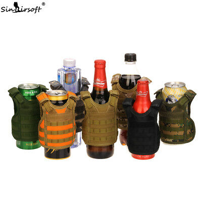 Tactical Shoulder Wine Bottle Cover Vest Adjustable Miniature Molle Carrier Deck