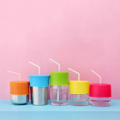 Leakproof Sets Baby Cup Lid Cover Drink Suction New Silicone