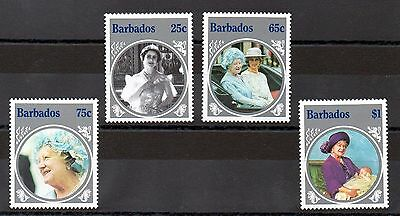 Barbados 1985 Life & Times of the Queen Mother MNH set