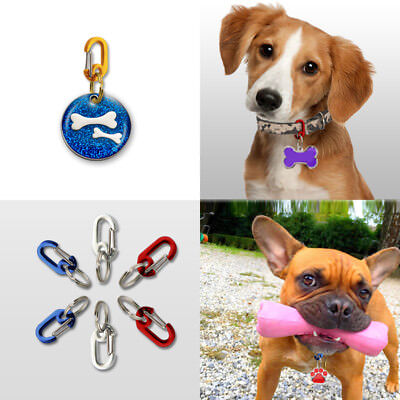 EzeClips Pet Tag Clip Heart Clips Pet Name Tags Collars