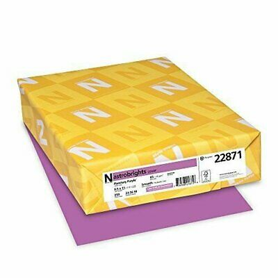 "Astrobrights Colored Cardstock, 8.5"" x 11"", 65 lb/176 gsm, Planetary Purple,"