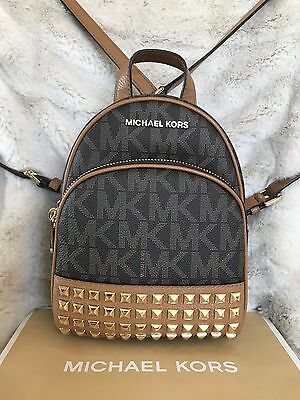 3fe482bd4a Nwt Michael Kors Pvc Abbey Xs Studded Backpack Bag In Brown acorn (Sale!