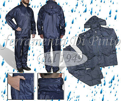 Complete Waterproof Nylon Cover Motorcycle Suit Bike L Xl Xxl Xxxl Hood