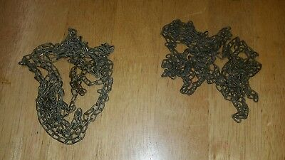 Two Brass Chains  For Antique Cuckoo Clock