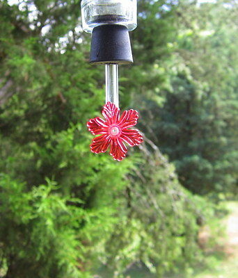 Hummingbird feeder tubes & stoppers with flower,set of 20 (RSt)