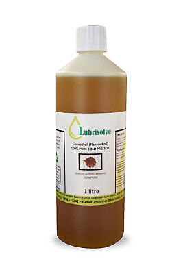 Linseed Oil - 100% pure, cold pressed Linseed Oil  - 1 litre