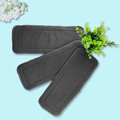 5 Pcs/Set Reusable 4 Layers Bamboo Charcoal Soft Baby Cloth Nappy Diaper ZJ
