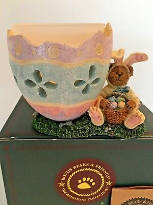 "Boyds Bears VOTIVE ""  E.B. HOPSTER...ALL CRACKED UP~  STYLE #27765   ""EASTER """