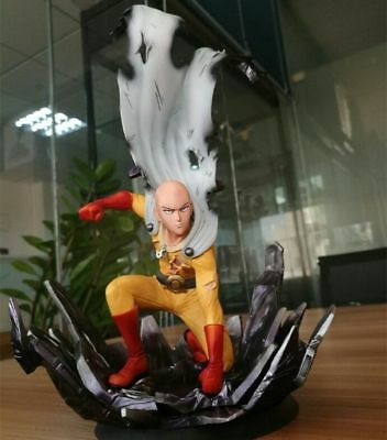 One Punch Man Saitama PVC statue Figure 10in. Hero Come From the Moon Tsume