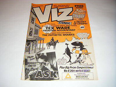 *RARE* Early VIZ COMIC ISSUE No 21 - (Dec/Jan 1986/87) UK Adult Humour Free Gift