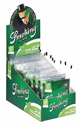 Smoking® Menthol Zigarettenfilter 6 mm - Eindrehfilter Drehfilter Slim Filter