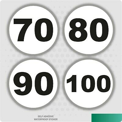 French Speed Limits 70, 80, 90, 100 Safety Sticker Car Vehicle Signs Road France