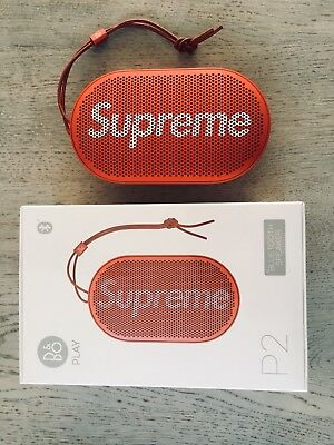 Supreme X B&O P2 portable bluetooth speaker inc sticker and bag AW2017