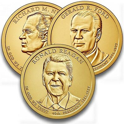 3 x US Presidental Dollar  2016, D oder P Mint, unc.