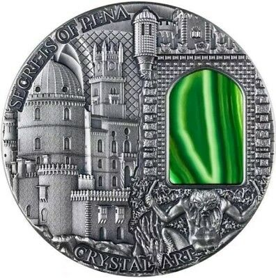 2014 2 Oz Silver $2 Crystal Art - SECRETS OF PENA Coin with Crystal Window..