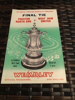 Preston North End V West Ham Utd FA Cup Final 2nd May 1964
