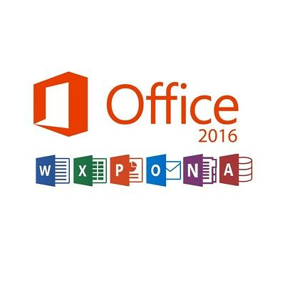 Key für Microsoft Office Professional Plus 2016 32 64 Bit Vollversion Deutsch EU