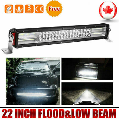 22INCH 1200W Quad Row Led Light Bar Flood Spot Combo Driving Offroad 4x4WD Truck