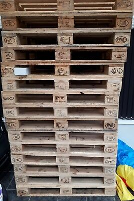 Heavy Duty Stamped Wooden Euro Pallet 1200mm x 800mm x 144mm Grade A