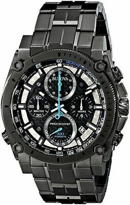 Bulova Men's Precisionist Quartz Chronograph Black Dial Gray Watch 98B229