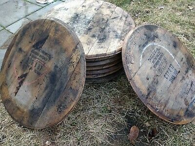 100% Authentic - STAMPED - Bourbon Whiskey Whisky Barrel Head/Top/Lid/End Oak