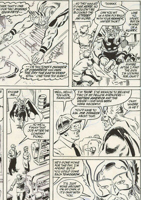 Original Comic Art Page Marvel Comics Thor Annual 17 Page 7