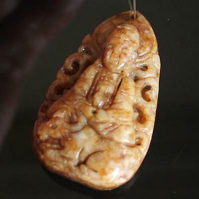 (dA3462) Tibet:  Stone Pendant Ancient Style hand carved