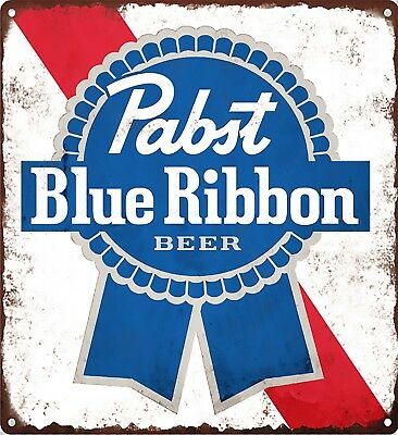 "Pabst Blue Ribbon Beer PBR Metal Sign Advertising Reproduction 12x12"" 60193"