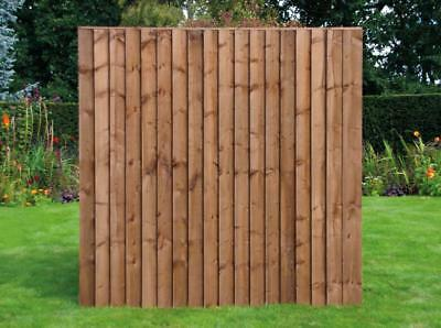 Standard Feather Edge Fence Panel, Pressure Treated 6'x6'