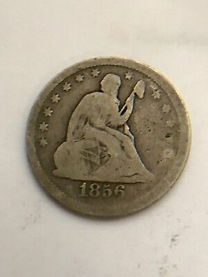 1856 25¢ QUARTER SITTING SEATED LIBERTY SILVER coin
