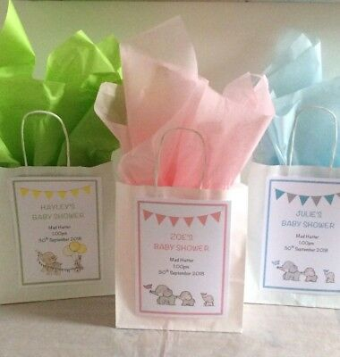 Personalised Gift Bag/Baby Shower/Christening/Birthday/Party