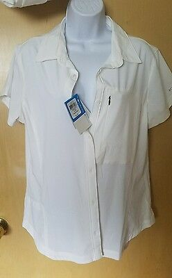 Columbia Wingfield springs Womens short sleeve shirt size large NWT