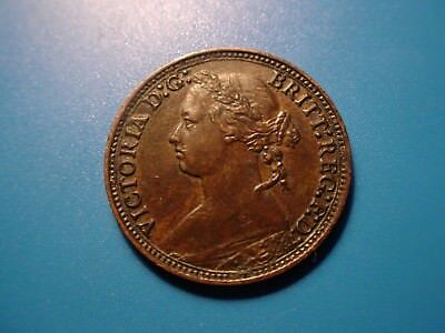 British 1879 Farthing In Excellent Condition