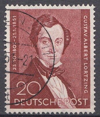 GERMANY BERLIN LORTZING, COMPOSER - Michel 71 Sc 9N69 1951 fine used    (20860
